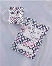 Personalised Bless the Lord Mug And Notebook