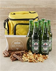A 4L insulated coolerbag filled with a 6-pack of H