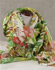 Tropical Scarf And Pamper Set