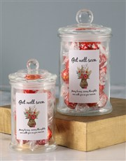 Floral Get Well Soon Lindt Candy Jar