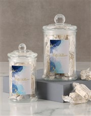 Sally Williams Blue Nougat Candy Jar