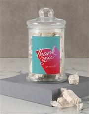 Thank You Blue Nougat Candy Jar