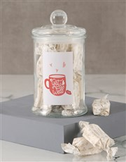Get Well Soon Hearts Nougat Candy Jar