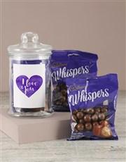 I Love You Purple Whispers Candy Jar