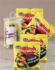 Happy Birthday Maynards Candy Jar