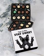 Stay Sweet Happy Birthday Double Choc Tray