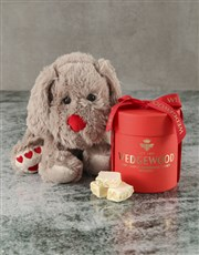 Bubbly and Cuddles Red Nougat Hatbox