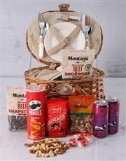 Moreish Munchies Picnic Basket Hamper