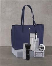 Polo Lyone Pebble Navy Handbag Set