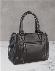 Polo Andes Leather Black Shopper Set