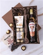 A gift box containing a bottle Amarula Liqueur and