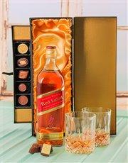 Johnnie Walker Whiskey & Chocolate Luxury Gift Set