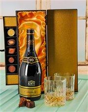 10 Year Brandy & Luxury Chocolate Box