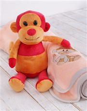 This gift set includes a fun Monkey plush toy and