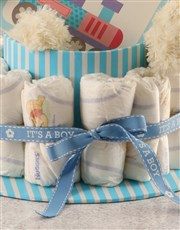 Bring joy to the new baby boy with this fab nappy