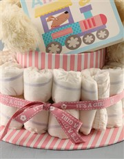 Bring joy to the new baby girl with this fab nappy