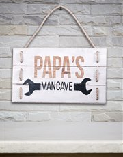 Celebrate papa's man cave with this thoughtful and