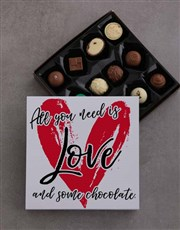 Let love rule with a tray of 12 assorted belgian c