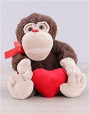 Spread the love with an adorable monkey heart tedd