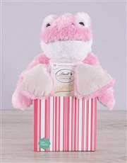 Make someone's day with this pink striped box whic