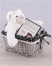 Spoil a loved one with a cuddly white teddy bear a