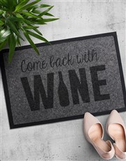Spoil that wine lover with this coir doormat which