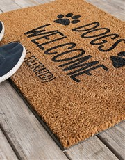 Spoil that dog or cat lover with this coir doormat