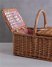 4 Person Red Picnic Basket