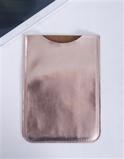Rose Gold PU Tablet Cover