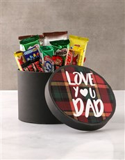Love You Dad Chocolate Hat Box