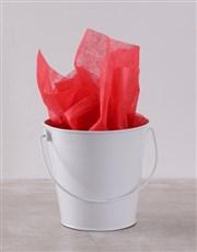 White Bucket of Sweet Treats