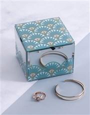 Glam Mirror Trinket Box Small Square