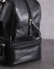 Black Leather Golf Bag