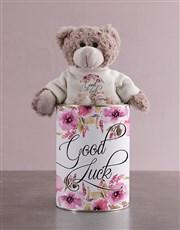 Teddy in a Good Luck Tin