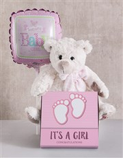 Baby Girl Teddy Bundle