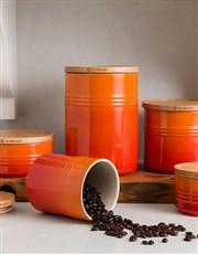 Exquiste Orange Storage Jar