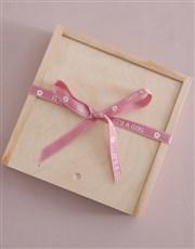 Baby Girl Ribbon Lindt Treasure Box