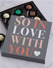 So In Love Chocolate Tray
