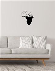 Africa Map Wall Vinyl