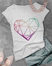 Abstract Heart Ladies T Shirt