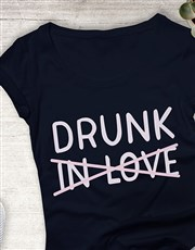 Drunk Not In Love Ladies T Shirt