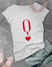 Cherry Letter Q Heart