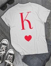 Cherry Letter K Heart