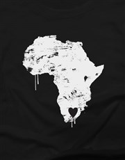 Heart In South Africa Ladies T Shirt