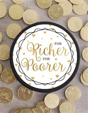 For Richer For Poorer Choc Coin Hat Box