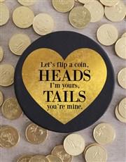 Flip A Choc Coin Hat Box