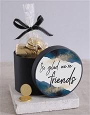 Friendship Celebration Choc Coin Hat Box