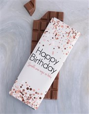 Sprinkle Some Birthday Magic 300g Chocolate Slab