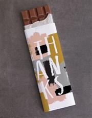 Thanks Colourful Brush Strokes 300g Chocolate Slab