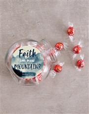 Faith Moves Mountains Candy Jar